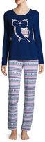SLEEP CHIC Sleep Chic Jersey Pant Pajama Set