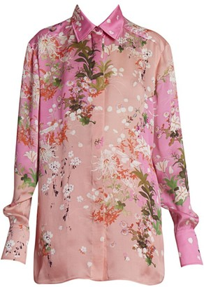Givenchy Floral Silk Shirt