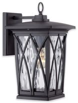 Quoizel Grover 14.5-Inch Outdoor Wall Lantern in Matte Black with CFL Bulb