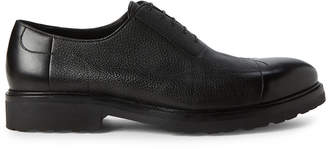 a. testoni A.Testoni Black Leather Derby Shoes