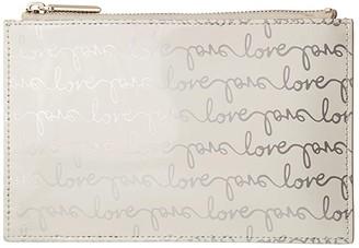 Kate Spade Love Pencil Pouch (Silver) Wallet