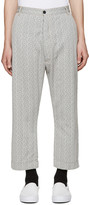 Sunnei Black and White Trousers
