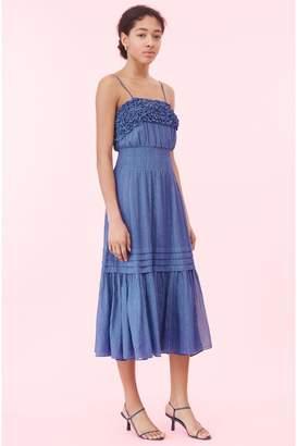 Rebecca Taylor Lurex Stripe Tank Dress