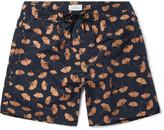 Saturdays NYC Timothy Ginkgo Mid-Length Printed Swim Shorts