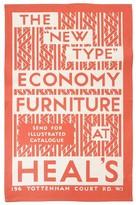 Heal's Poster Ecomony Tea Towel - Red