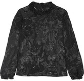 Isabel Marant Udell Ruffle-trimmed Fil Coupé Top - Black