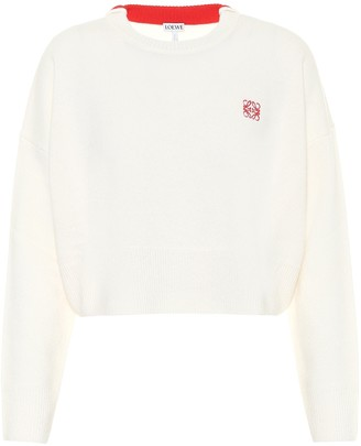 Loewe Embroidered cropped sweater