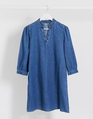 Vila denim smock dress in blue
