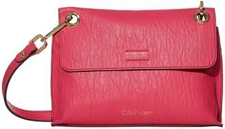 Calvin Klein Sonoma Bubble Lamb Novelty Flap Crossbody (Punch) Handbags