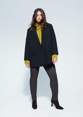 MANGO Violeta BY Printed leggings grey - S - Plus sizes
