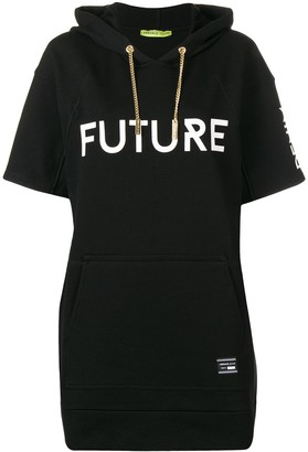 Versace Jeans Couture Hooded Short Sleeve Long Jumper