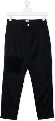 BRUNELLO CUCINELLI KIDS Patchwork Straight Trousers