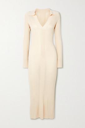 REMAIN Birger Christensen Joy Ribbed-knit Midi Dress
