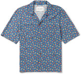 Our Legacy Camp-Collar Floral-Print Voile Shirt