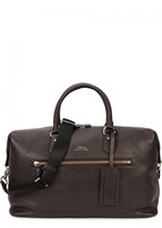Polo Ralph Lauren Dark Brown Pebbled Leather Holdall