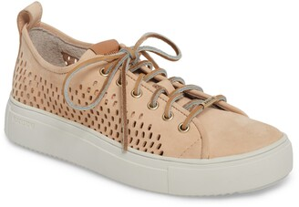 Blackstone Perforated Leather Low Top Sneaker