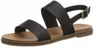 New Look Women's Flips-PU Two Part Footbed Open Toe Sandals