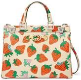 Gucci Zumi Strawberry print tote