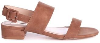Linzi CHESKA - Tan Nubuck Small Block Heeled Sandal