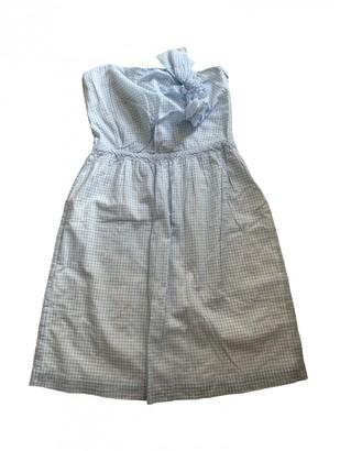 Masscob Blue Cotton Dress for Women