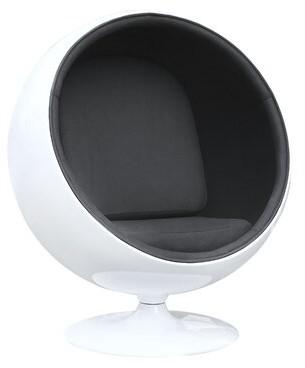 Orren Ellis Evandale Balloon Chair Upholstery Color: Black