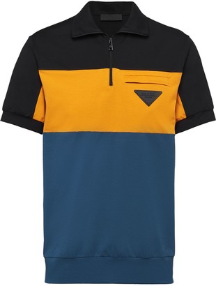 Prada Colour-Block Polo Shirt