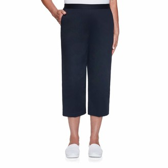 Alfred Dunner Women's Twill Classic FIT Capri Pant