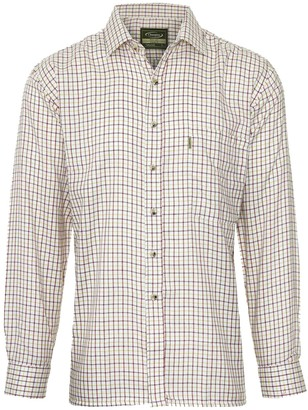 Champion Tattersall Country Casual Style Long Sleeved Shirt - Red - XL