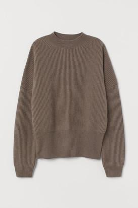 H&M Rib-knit Cashmere Sweater - Beige