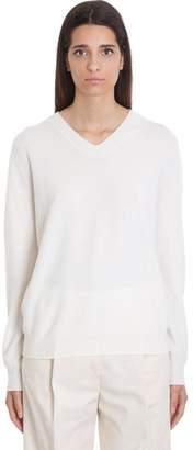 Jil Sander Knitwear In White Cashmere