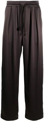 Nanushka Jiro satin pyjama style trousers