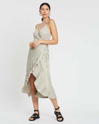 Abercrombie & Fitch Slip Midi Dress