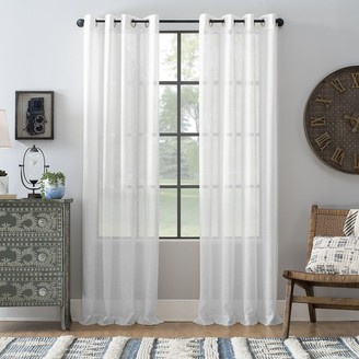 Archaeo Slub Textured Linen Blend Grommet Curtain Panel