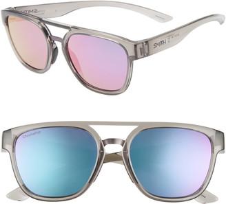 Smith Agency 54mm ChromaPop(TM) Mirrored Sunglasses