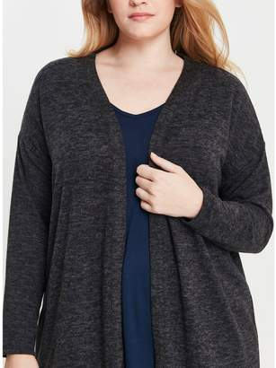 Evans Charcoal Grey Soft Touch Cardigan
