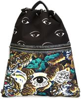 Kenzo multi icon drawstring backpack - men - Calf Leather/Nylon - One Size