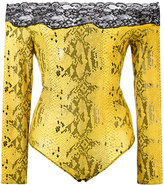 Faith Connexion snakeskin print body - women - Cotton/Polyamide/Spandex/Elastane/Lyocell - S