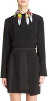 Christopher Kane Women's Sequin Collar Blouse