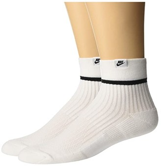 Nike Sneaker Sox Essential Ankle Socks 2-Pair Pack (Black/White/White) Low Cut Socks Shoes