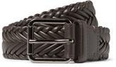 Ermenegildo Zegna 3cm Brown Woven Leather Belt