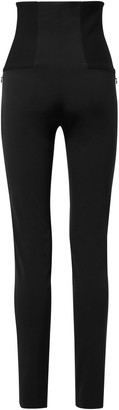 Dorothee Schumacher Zip-Detailed Stretch-Jersey Skinny Pants