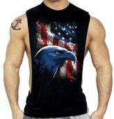 SR AMERICAN ICON EAGLE US FLAG Mens New Muscle Tee Workout Tank Top