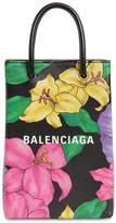 Balenciaga SHOP PHONE BLUSH PRINT LEATHER BAG