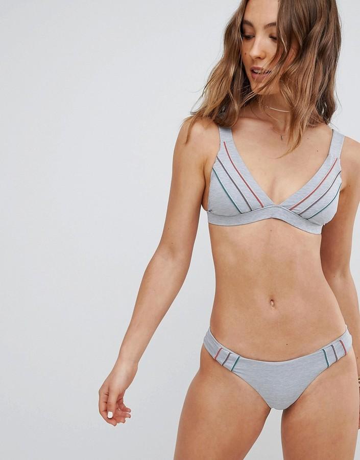 RVCA Pipeline Cheeky Grey Marl Bikini Bottom