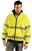 Occunomix OK-4201 Class 3 Classic Reversible Bomber Jacket-Yellow/Lime-XL