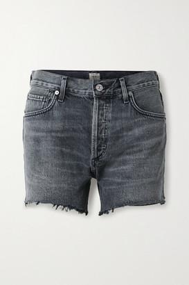 Citizens of Humanity Marlow Distressed Organic Denim Shorts - Black