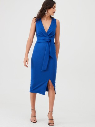 Very Knot Front Stretch Bodycon Dress - Blue