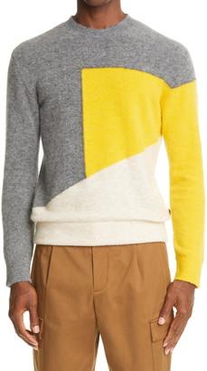 Ermenegildo Zegna Colorblock Crewneck Sweater