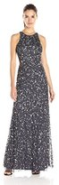 Adrianna Papell Women's Racer Bodice with Cutout Gown