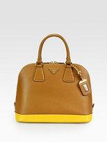 Prada Saffiano Lux Bicolor Top-Handle Bag